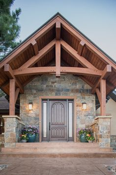 Cheyenne Addition - Gorgeous Rustic Front Door and overhang & Front Door Overhang Ideas : Front Door Overhang Designs \u2013 Design ... Pezcame.Com