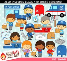 Post Office Clipart and Lineart - personal and commercial use