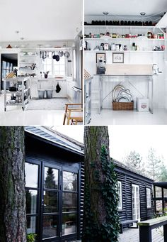Black exterior - house is too traditional but still love the complete blackout