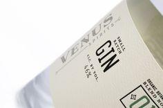 Venus Spirits small batch gin // branding and packaging by CDA // chendesign.com