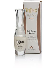 Trind Nail Revive Natural is a FORMALDEHYDE FREE nail strengthener, which not only strengthens weak nails, but also keeps them supple. The unique formula brings the protein molecules in the nail firmly together, which creates a very strong structure but still allows the nail to flex so it does not chip or split. Visit trind.ca/ for more info.