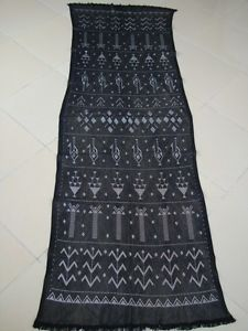 Authentic Egyptian Black Handmade Tulle Bi Telli Assuit Assiut Shawl Sale | eBay