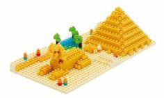 """nanoblock Giza's Big Pyramid by Kawada. $23.50. """"The Great Pyramid of Giza"""" Pyramid of Cheops, which is the apex of the pyramid construction scene appeared in the collection series. It is a World Heritage Site, World Heritage Site in the rankings is recommended to choose a professional journey is a popular tourist destination in the top 20. World Travel mood can taste it side-by-side on top of the desk to collect. With assembly instructions.. """"The Great Pyramid o..."""