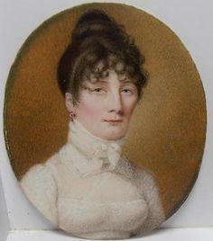 VERY FINE GEORGIAN PORTRAIT MINIATURE of YOUNG LADY MARIANE JAMES nee Williams