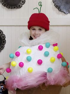 Frugalicious Marie: Easy DIY Halloween Costume: Ice Cream Cone With Ch...