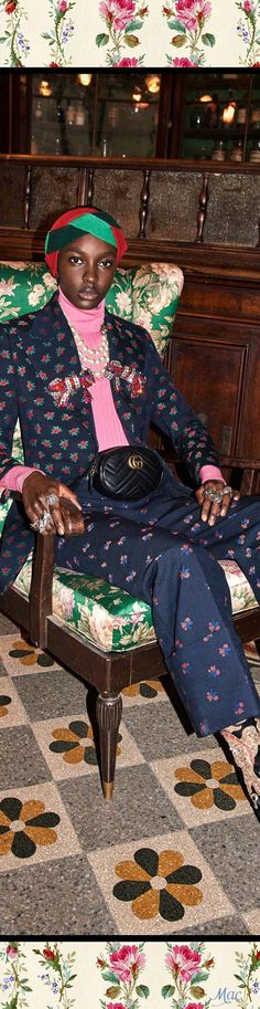 Gucci // Pre-Fall 2017 // Trending : Turbans // 1969 & 70's Boho Rockstar Street + Stage Style // The Jet Set // Glam Bohemian Mashup // Designer Fashion Ideas + Inspiration