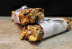 Homemade Granola Bars packed with dried fruit, nuts, banana and peanut butter