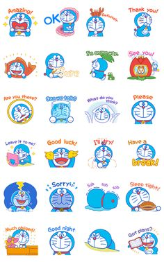 background Want to liven up those everyday chats with friends and family Doraemons here to help! No gadgets needed here, just Doraemons friendly (and often funny) self is all you need to get your message across in this animated sticker set. Doraemon Wallpapers, Anime Backgrounds Wallpapers, Cute Cartoon Wallpapers, Printable Stickers, Cute Stickers, Planner Stickers, Adventure Time Wallpaper, Alphabet Code, Doraemon Cartoon