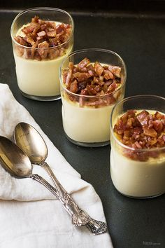 Sweet Corn Panna Cotta with Candied Bacon is the perfect balance of sweet and savory. Super quick and easy to make with incredible flavors and texture!