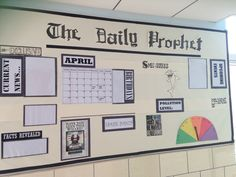 Our third grade news bulletin board. Harry Potter themed