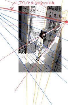 Digital Painting Tutorials, Digital Art Tutorial, Art Tutorials, Perspective Drawing Lessons, Perspective Sketch, Drawing Reference Poses, Drawing Poses, Background Drawing, Environment Concept Art