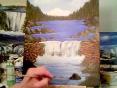 ▶ Acrylic Painting Lesson 10 Learn how to paint moving water and large rocks. - YouTube