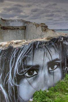 Photorealistic Street Art in France. Via Google StreetArt.