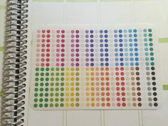 Colorful Small Circle Planner Stickers-Perfect by AlternateForces