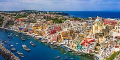Procida – Historic Village in the Phlegraean Archipelago in Italy Beautiful Tree Houses, Beautiful Homes, Beautiful Places, Beautiful Beautiful, House Beautiful, Positano, Amalfi, Places Around The World, Around The Worlds