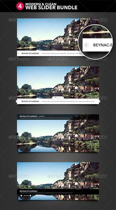4 Modern and Clean Web Slider - #Sliders & Features #Web Elements Download here: https://graphicriver.net/item/4-modern-and-clean-web-slider/2613373?ref=alena994