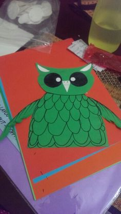 Owl craft christmas props