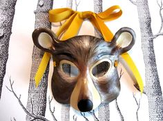 gorgeous! Bear Leather Mask, Child Size - Made to Order. $63.00, via Etsy.