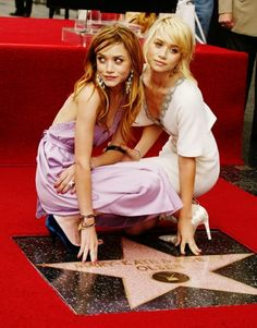 Mary-Kate and Ashley Olsen, honored with a star on the Hollywood Walk of Fame