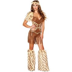 Sexy Native American Warrior Women's Costume ($99) ❤ liked on Polyvore featuring costumes, halloween costumes, multicolor, sexy women halloween costumes, sexy costumes, native american halloween costume, lady costumes and sexy warrior costume