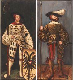 Zwei Landsknechte Deutschland 16. Jahrhundert (?) © Bayerisches Armeemuseum