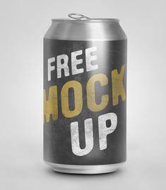 Free PSD soda can Template. Works with Smart Objects n Adobe Photoshop: you place your design and it's automatically wrapped around and rendered. free Soda Can Psd mockup Free Mockup Templates, Photoshop, Bottle Mockup, Tool Design, App Design, Canning, Soda, Product Packaging, Packaging Design