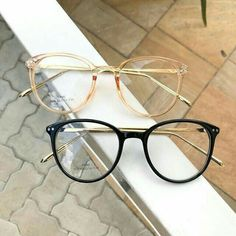 I like the top one ♡ The bottom one is a no from me Glasses Frames Trendy, Cool Glasses, New Glasses, Round Lens Sunglasses, Cute Sunglasses, Sunglasses Women, Glasses Trends, Lunette Style, Fashion Eye Glasses