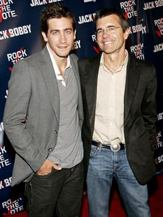 Jake Gyllenhaal with his and sister Maggie's father director Stephen Gyllenhaal.