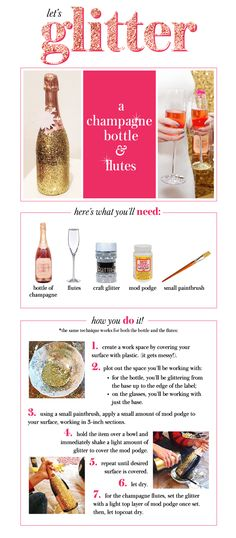 #decoratecolorfully jazz up your champagne bottle