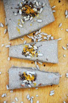 Basic raw vegan halvah (halva) recipe – world-known oriental dessert.