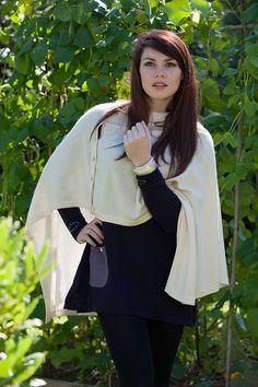 Cashmere poncho from Bella Bazaar