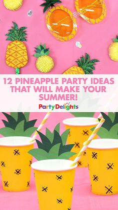 Celebrate summer with a cute pineapple party! Get inspiration for this cute summer party theme in our blog post and remember, you can use any of these ideas for a Hawaiian party theme too!