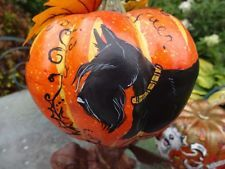 Autumn Decorative Scottish Terrier Pumpkin HP Halloween Scottie! #2