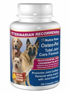180 Ct Value Size Osteo-Pet Total Joint Care for Dogs - Glucosamine Chondroitin, MSM, Hyaluronic Acid, Boswellia and more - http://www.thepuppy.org/180-ct-value-size-osteo-pet-total-joint-care-for-dogs-glucosamine-chondroitin-msm-hyaluronic-acid-boswellia-and-more/