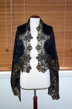 Edward Cromarty Designs 100 Silk Shawl with Black Gold French Lace 53 x 37 | eBay