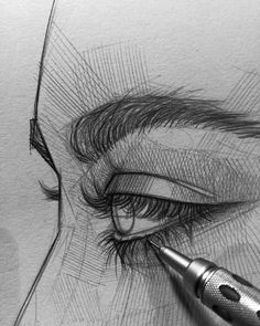 Ani Cinski is a German pencil sketch artist, Illustrator and Graphic Designer. Ani Cinski is drawing great attention to her unique sketch drawings. Cool Art Drawings, Pencil Art Drawings, Art Drawings Sketches, Drawings Of Eyes, Sketch Art, Arte Sketchbook, Face Sketch, Pen Art, Aesthetic Art