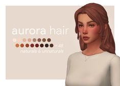 "ajduckie: "" aurora hair // recolored my favorite hamptons-girl-but-wants-to-be-down-to-earth hair by Seguir leyendo "" Sims 4 Cc Packs, Sims 4 Mm Cc, Sims Four, My Sims, Sims 4 Content, Sims 4 Custom Content, Sims 4 Mods Clothes, Sims 4 Clothing, Maxis"