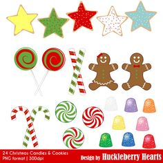 80% OFF SALE Christmas Cookies and Candy by HuckleberryHearts