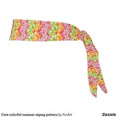 Cute colorful summer zigzag pattern tie headband Tie Headband, Zig Zag Pattern, Party Hats, All Print, Art Pieces, Colorful, Sewing, Cute, Summer
