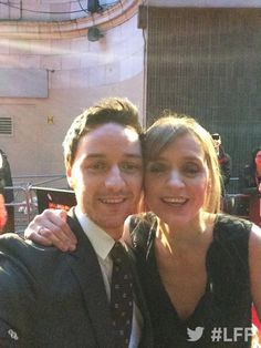 James McAvoy and wife Anne-Marie Duff are here for The Disappearance of Eleanor Rigby #lff