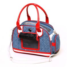 Pet Carrying Travel Handbag For Dogs Puppies Small Animals Red Blue Cowboy  01.2.054 Chihuahua Yorkshire Cat Track Carrier Goods