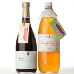 岩手県紫波町のジュースセット(ぶどう・りんご) 2730yen 無添加・無加糖なのに甘いぶどう&りんご100%ジュース