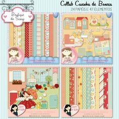 Collab Casinha de Boneca by Vika Matos e Lu Arteira - R$12,50 : Boutique do Scrap