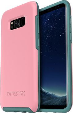OtterBox Symmetry Cover for Samsung Galaxy Plus - Pink Samsung S8 Phone Cases, Galaxy S8 Phone Cases, Bling Phone Cases, Cool Phone Cases, Samsung Galaxy, Refurbished Phones, Finger Print Scanner, Metallic Prints, Protective Cases