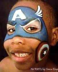 captain america face painting - Yahoo Image Search Results