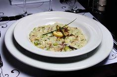 risoto de aspargos com shiitake