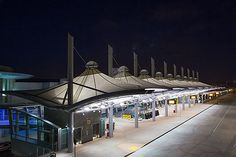 Architectural Fabric Structure made out of Teflon coated fiberglass installed in San Diego International Airport, CA