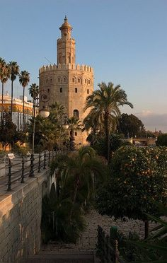 Y aquí tenemos a la maravillosa Torre del Oro! Places Around The World, Travel Around The World, Around The Worlds, Cadiz, Malaga, Places To Travel, Places To See, Spain And Portugal, Spain Travel