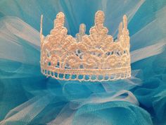 Newborn Lace Crown Photo Prop by ShirleyTemplesTutus on Etsy, $6.00