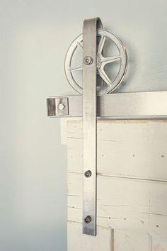 8 ft Industrial European Spoked Wheel Sliding Closet Barn Door Hardware | eBay
